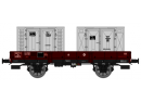 REE MODELES WB 127 HO - Wagon PLAT OCEM 29 Ep.III SNCF avec containers gris (WB127)